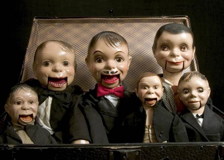 Ken Feingold, Box of Men 2007, puppets, suitcase, wood, steel