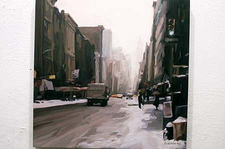 Lisbeth Firmin, Broadway in the Snow 1998, oil on panel