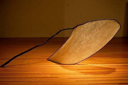 Christopher Fetter, Rain 1989, wood, steel, polyresin