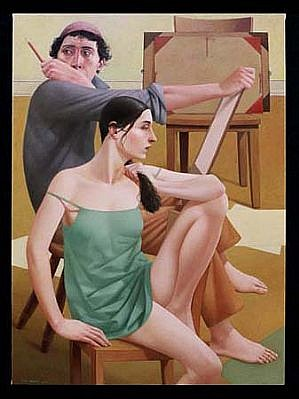 Alan Feltus, The Painter and His Muse 2000, oil