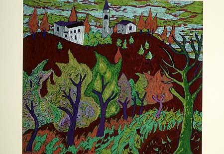 Kathleen Flannigan, Spello 1999, color pencil