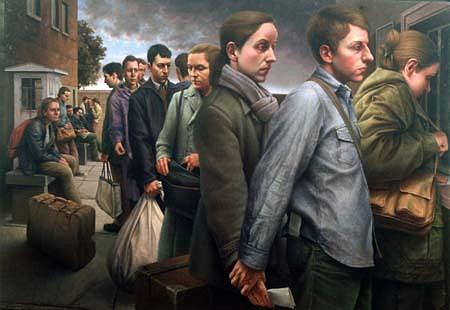 Michele Fenniak, Permission to Travel 2003, oil on panel