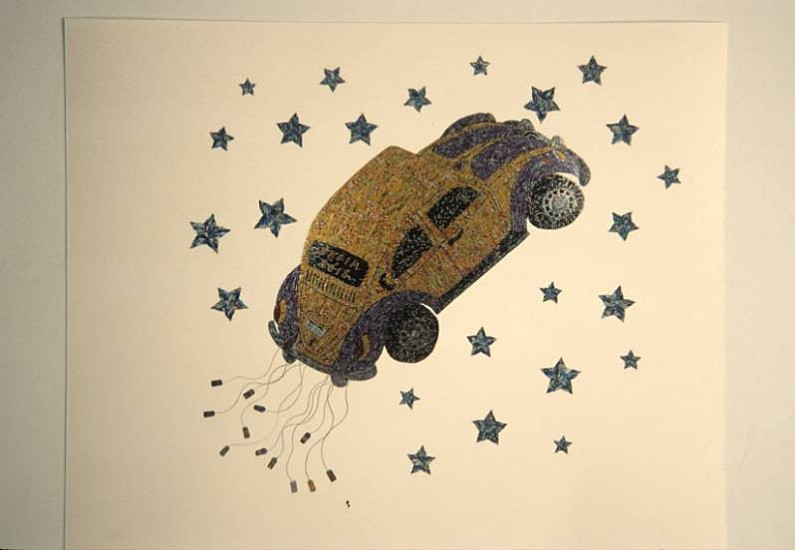 Jorge Fonseca, Carro Alegorico 2007, wood, metallic threads, cut and stick drink cans