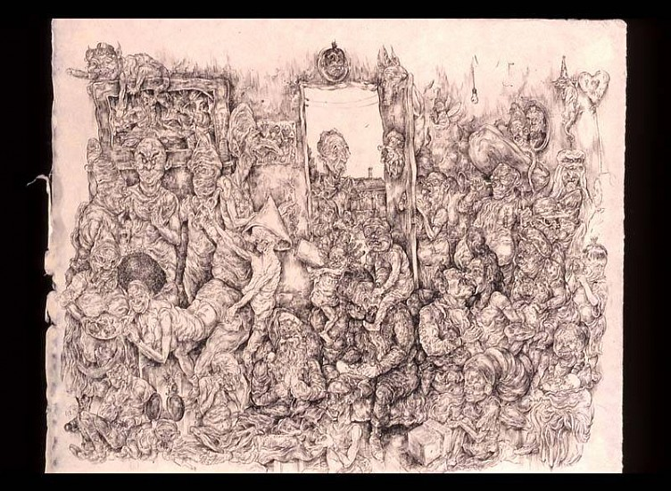 Oscar Flores, Norman Rockwell's All-American Homecoming 2005, pen and ink