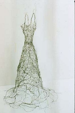 Susan Freda, Vines 2000, crocheted wire, resin
