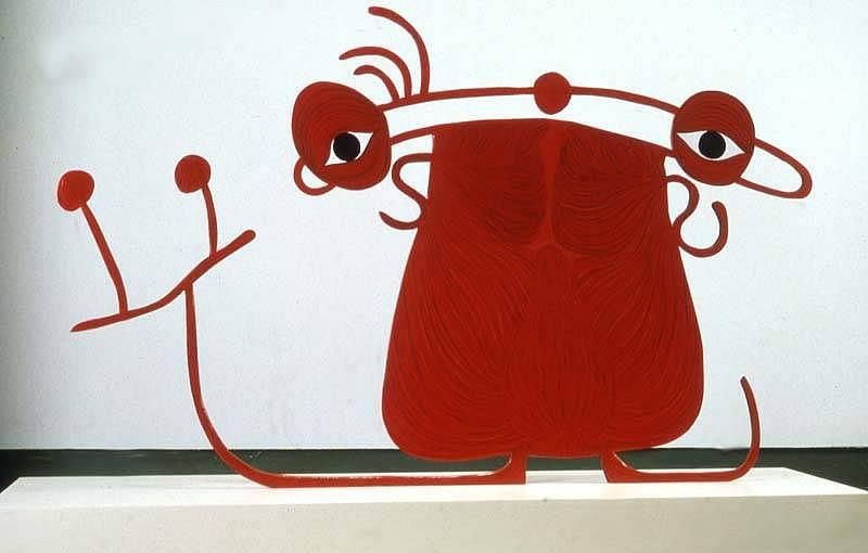 Charley Friedman, Gross Anatomy (Musculature System) 2005, mdf-sheet metal