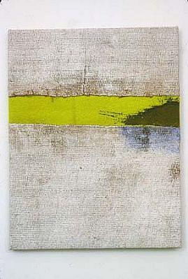 Joe Fyfe, Kyoto Rain 2003, burlap, felt, acrylic