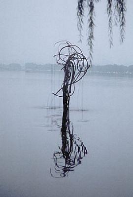 Barbara Edelstein, Elemental Spring- West Lake, Hangzhou 2001, copper, water