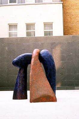 John Edwards, Haytor 1996, cement, pigment