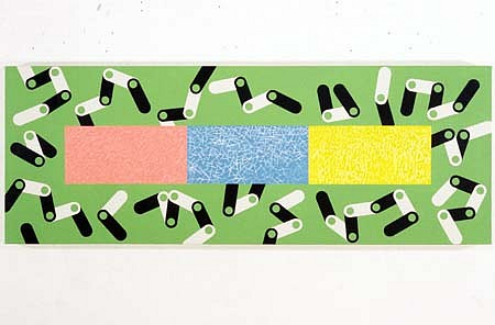 Susan Elias, Cell Boogie Woogie 1996, acrylic on canvas