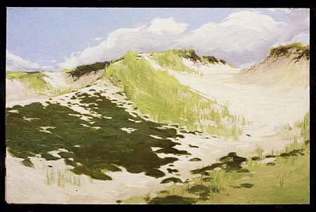 Terry Elkins   Dunes in Napeague , 2002   oil on canvas, 30 x 44 inches