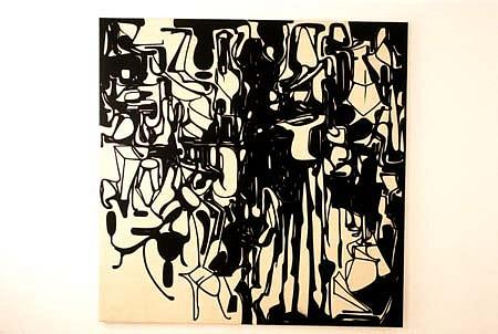 Peter Ellis, Yes-part 1999, oil, pigment on canvas