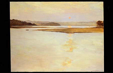 Terry Elkins, Louse Point Sunset 2004, oil on canvas