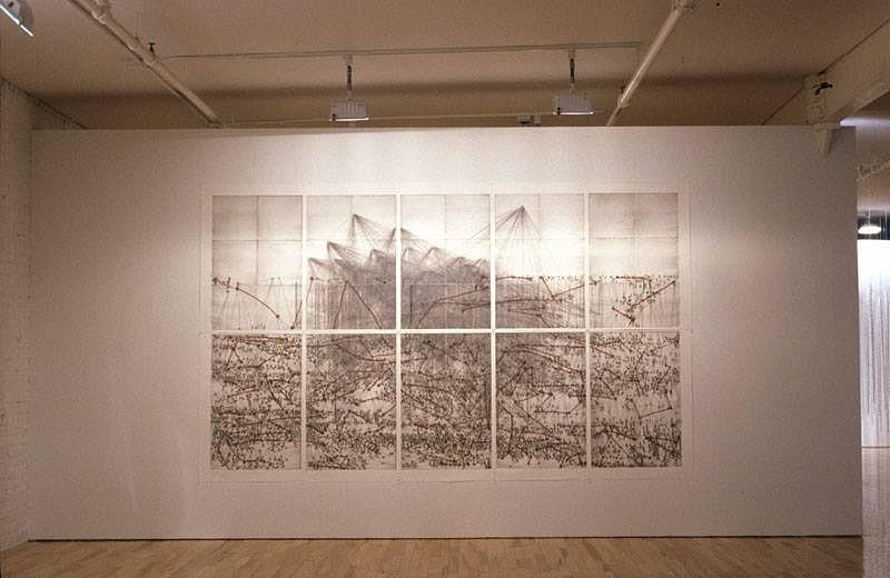 Yizhak Elyashiv, Untitled (Irish landscape) 2004, 10 part monoprint on paper