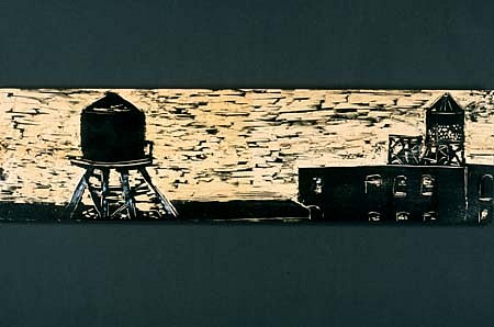 Amy Emery, Water Towers 2002, woodcut