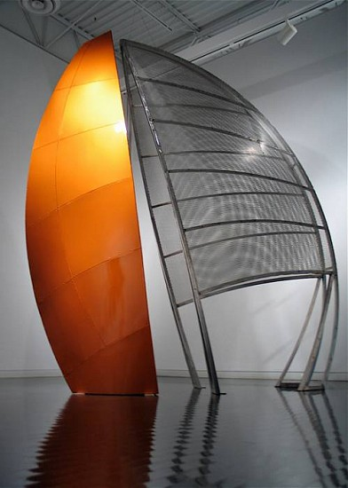 Bob Emser, Windsurfer 2008, stainless steel, painted aluminum