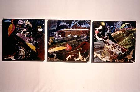 Arline Erdrich, Unsung Heroes 1993, acrylic/ acryllage, enamel on linen