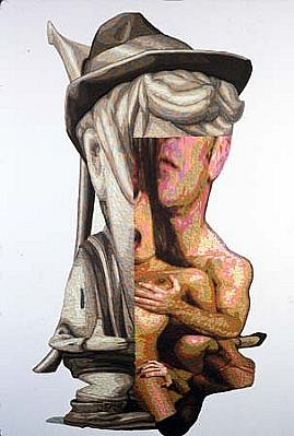 James Esber, Toledo Bend 2003, plasticine on canvas