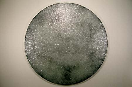 Jon D'Orazio, Mirror 1994, urethane and glass on canvas