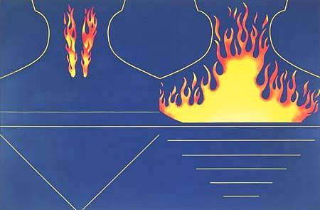 Ronald de Bloeme, Stunt 2005, matte and high-gloss paint on canvas