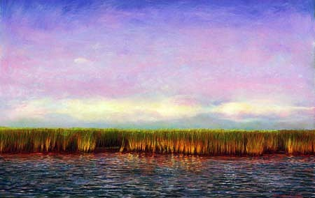 Adrian Deckbar, Bayou Bienvenue 2003, pastel