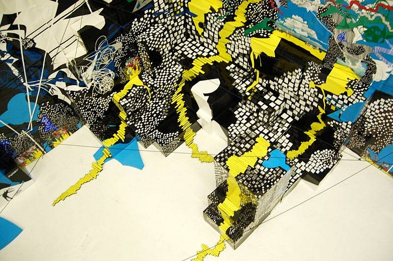 Priscila De Carvalho, Stairways to a Odd Secret 2008, acrylic,foam, sharpie, shoeboxes, photograph collage