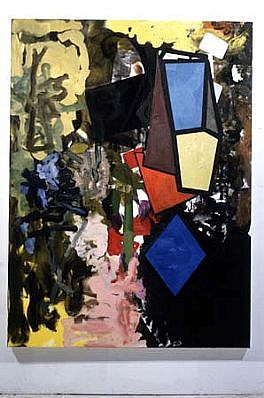 Stephen Davis, If....Then 1991, oil on canvas