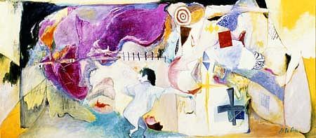 Alfredo De La Rosa, Coming into the Country 1995, oil, alkyd on canvas