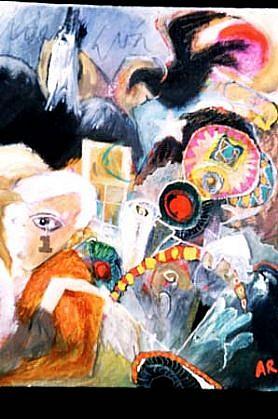 Alfredo De La Rosa, Las Ramblas 1996, oil on canvas