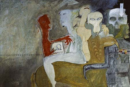 Alfredo De La Rosa, Red Imp 1998, oil on canvas