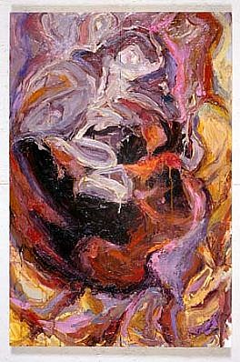 Stephanie DeManuelle, Fruiting Body 2001, oil on panels