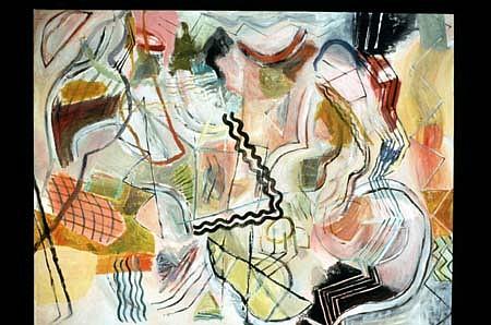 Lynn Denton, Beach Dance 2001, acrylic on canvas