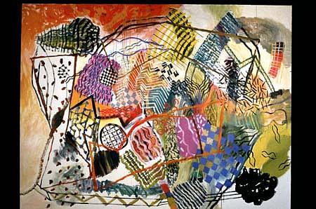 Lynn Denton, Bazaar 2001, acrylic on canvas