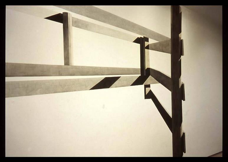Shoshana Dentz, Home Land (Fence II no 46) 2005, gouache on wall