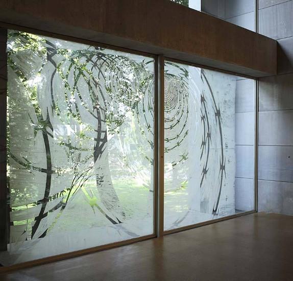 Shoshana Dentz, Portal No. 10 2006, gouache on glass