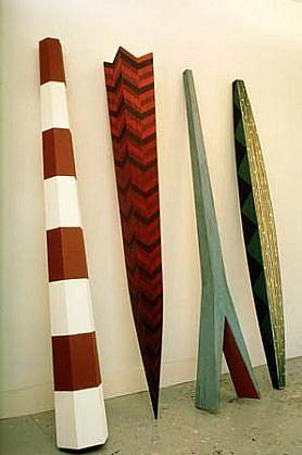 Hank De Ricco, Dialectic Materialism 1987, wood, paint