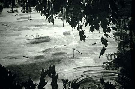 Sandra De Sando, Light, Darkness, Higan Cherry #2 1995, pencil on paper