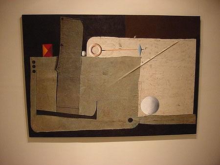 Jorge Diciervo, Realismo Demasiado Angosto II 2003, acrylic on canvas, collage