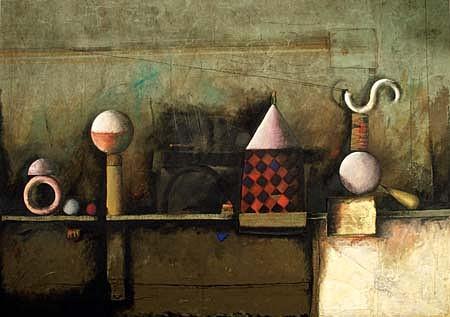 Jorge Diciervo, Altri Tempi 1991, acrylic on fabric