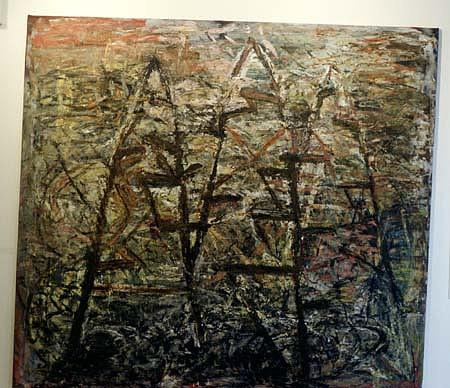 William Dick, Newgrange 1988, encaustic on canvas