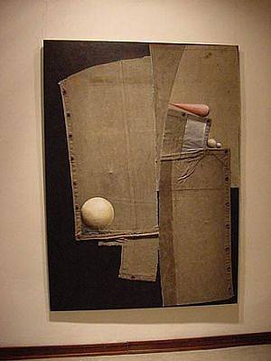 Jorge Diciervo, Estos son los Dias de Lluvia 2003-2004, acrylic on canvas, collage