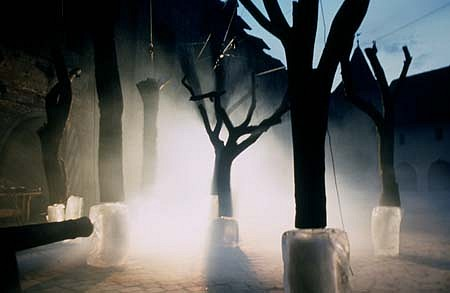 Tomasz Domanski, Forest Movements According to Macbeth 1997, ice, nine trees, smoke, sound