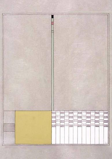 Susan Dopp, Ochre, Red Tip 2005, gouache, graphite, mulberry paper