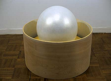 Jon D'Orazio, Luminous Sphere 2000, plywood, metal, plastic and polymer