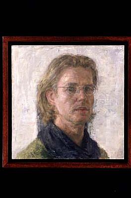 Sjoerd Doting, Self-Portrait 2000, oil on canvas pasted on board