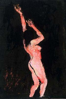 Sherman Drexler, Woman Reaching 2004, oil on wood
