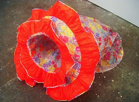 Beatrice Drysdale, Orange Flop 2003, tissue paper, glue, piping