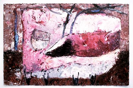 Valentina Dubasky, Magenta and Sienna Stag 1983, oil on paper