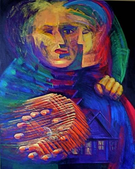Frank Duchamp, Just Keep Going 2010, acrylic on canvas