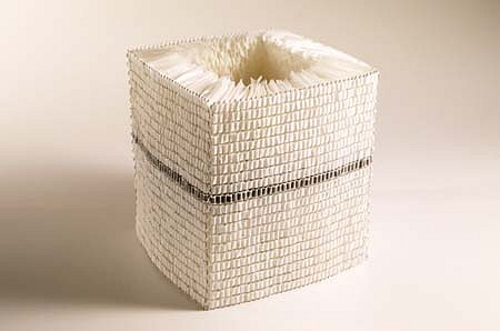 Elizabeth Duffy, Untitled No. 19 2000, wax paper, wire mesh, computer tape